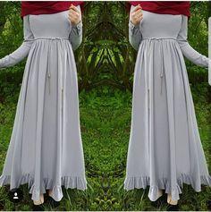 N/A Hijab Outfit, Hijab Style Dress, Muslim Women Fashion, Islamic Fashion, Niqab Fashion, Fashion Dresses, Modest Outfits, Casual Dresses, Abaya Mode
