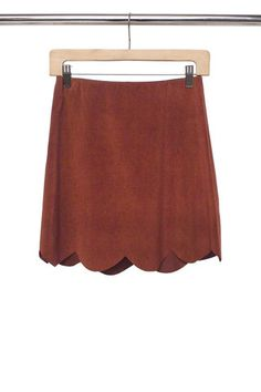 Suede anything and everything is a #FallMustHave | Suede Scalloped Skirt by No Rest For Bridget