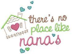 Dear Nana 10 single machine embroidery design for instant download.
