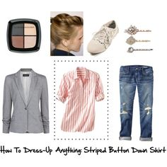How To Dress-Up Anything: Striped Button Down Shirt