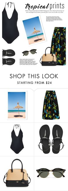 """Trinidad and Tobago in Summer"" by katsin90 ❤ liked on Polyvore featuring Marc Jacobs, ONIA, Havaianas, Kate Spade and Ray-Ban"