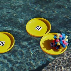 This DIY sponge ball pool game is super easy to make and inexpensive! Cut, bundle, tie and toss the sponges into floating Frisbee targets.