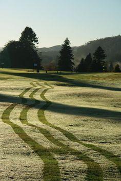 Beautiful winters morning at the Rotorua Golf Club, New Zealand www.rotoruagolfclub.co.nz