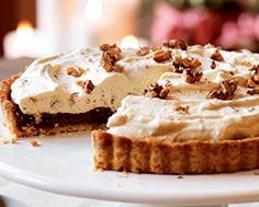 A classic maple butter tart filling in a tender, buttery shortbread crust, topped with a fluffy maple walnut mousse. Sweet Desserts, No Bake Desserts, Tart Filling, Butter Tarts, Shortbread Crust, Pastry Blender, Sweet Pie, Mousse Cake, Recipe Details