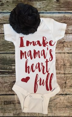 I make mama's heart full Bodysuit Mama Bodysuit Mothers Day Bodysuit Mommy Bodysuit Mama Shirts Baby Shower Gifts My Baby Girl, Baby Love, Baby Girl Fashion, Kids Fashion, Full Body Suit, Mama Shirt, Take Home Outfit, Cute Baby Clothes, Swagg