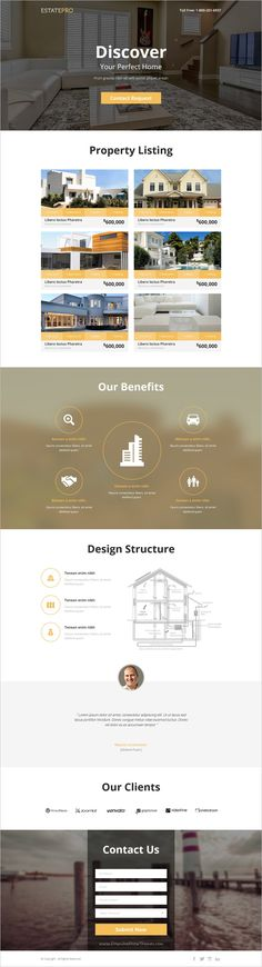 EstatePro is a clean and modern design 4 in 1 template for real estate business Landing Page Inspiration, Web Inspiration, Landing Page Examples, Landing Page Design, Real Estate Business, Real Estate Tips, Real Estate Website Templates, Real Estate Landing Pages, Business Web Design