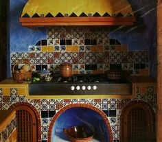 Hand painted Talavera Tiles Kitchen Project Idea