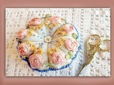 how to embroider a silk ribbon pincushion using an embroiderers background - YouTube - Excellent tutorial!!