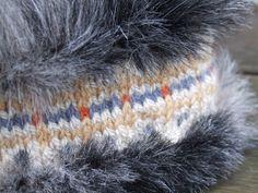 Fair Isle and Faux Fur headband