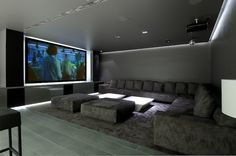 Home cinema, going to try and do this at the new house. Got the couch already and possibly the projector. www.homecontrols.com #hometheater