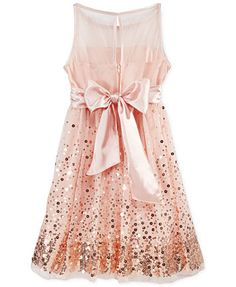 Crystal Doll Sequin Illusion Dress, Big Girls (7-16) | macys.com