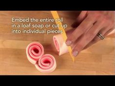 How to Roll Melt & Pour Soap Video  http://www.brambleberry.com