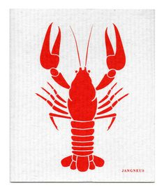 Red Crayfish Dishcloth