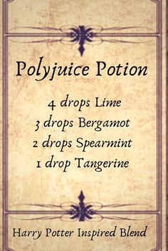 3 Harry Potter inspired Diffuser Blends I love the Harry Potter books and movies, and with the Halloween season just around the corner what better way to celebrate? Essential Oil Diffuser Blends, Doterra Essential Oils, Young Living Essential Oils, Doterra Blends, Doterra Diffuser, Bergamot Essential Oil, Lemongrass Essential Oil, Harry Potter, Diffuser Recipes