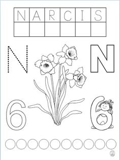 Spring Activities, Activities For Kids, Special Education Activities, Diy And Crafts, Crafts For Kids, Spring Flowers, Bookmarks, Paper Flowers, Alphabet
