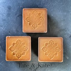 Cold process, Beer soap, stamped soap