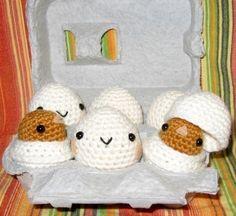 Happy Eggs  Amigurumi Toys von anapaulaoli auf Etsy, $50,00
