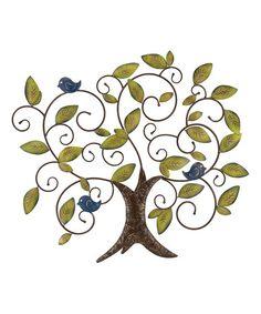 Love this Blue Bird Tree of Life Wall Décor on #zulily! #zulilyfinds