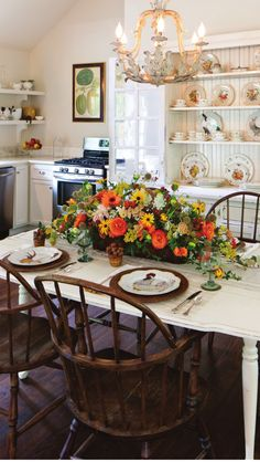 Roosters and farmhouse style!  From Southern Lady Mag.  Sep Issue.