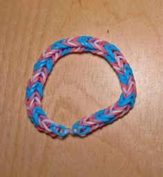 Trans Pride Flag Loom Bracelet (Stripe) from AeronMadeThis on Etsy