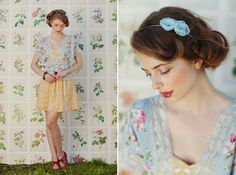 Spring Hair + Matching Bouquets   Best Wedding Blog - Wedding Fashion & Inspiration   Grey Likes Weddings