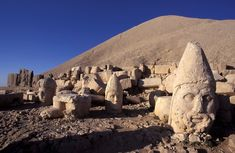 Mt. Nemrut in TURKEY is a tomb site dating back to 1st century B.C. In Armenian legend, Hayk defeated the Biblical king Nimrod and buried him in these mountains! Experience it for yourself with our World Heritage Tour of Turkey: https://bestway.com/tours/wht-turkey/