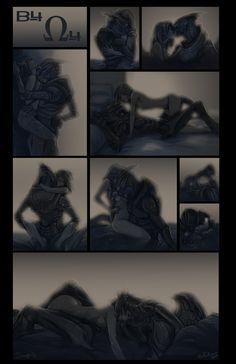 B4 Omega4 by Sempaiko.deviantart.com on @deviantART Smexy moment between Garrus and femShepard!