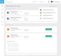 Dashboard. Adding Accounts.