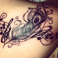 Peacock feather #tattoo #tattoos