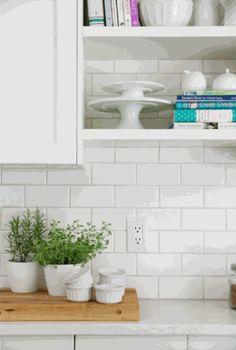Subway 3x6 Whisper White Gloss Ceramic Wall Tile