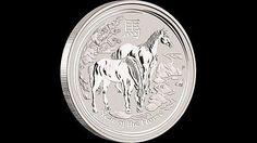 2014 1/2 oz Perth Mint Lunar SII Year of the Horse 999 Fine Silver Bullion Coin