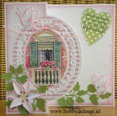 Marianne Design Cards, Stencil, Cardmaking, Wreaths, Frame, Juni, Crafts, Craft Ideas, Home Decor