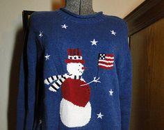 Ugly Christmas Sweater Small Cheap Jumper  Tacky, Gaudy, Novelty, Holiday, Party, K5