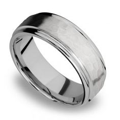 Bridal & Wedding Party Jewelry Titanium 925 Sterling Silver Inlay 8mm Brushed Wedding Ring Band Size 11.50 Easy And Simple To Handle