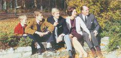 Frédéric Guillaume de Hohenzollern, Marguerite de Leiningen et leurs trois fils en 1967.