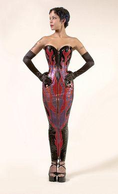 Dress by Dark Garden.  Hobble skirt extreme. :-)