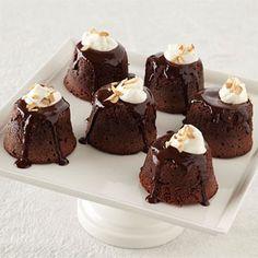 Chocolate-Amaretto Lava Cakes