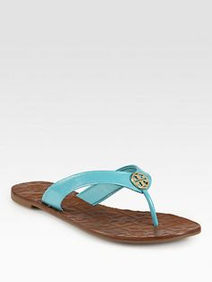turquoise patent leather sandals