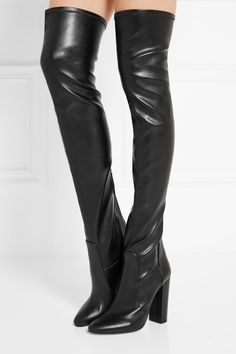 AQUAZZURA Stretch-leather over-the-knee boots