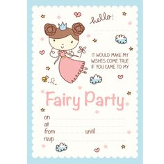 Party Supplies, #Fairy Party Invites - Little Party Pack