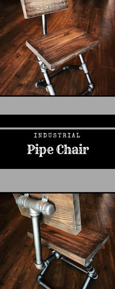 Custom finishes - steampunk pipe chair/restaurant chair/industrial chair/farmhouse furniture/rustic country home/desk chair/dining room #industrial #rustic #ad