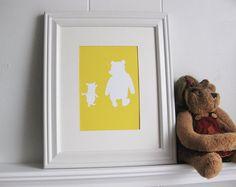 Winnie the Pooh & Piglet  Nursery Art Print by valeriejauma, $20.00