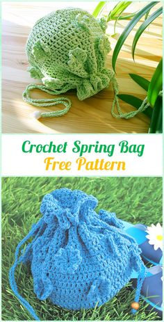 Crochet Spring Bag Free Pattern - Crochet Kids Bags Free Patterns