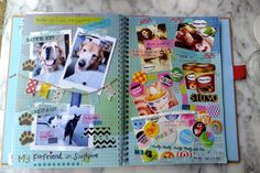 "Smash Book - Kind of like scrap booking but you don't have to think about it...or dig up photos.  Just sit and chill w things you like from magazines.  Kind of like Pinterest but paper not electronically.  Like a ""Vision Board"" sort of :)"