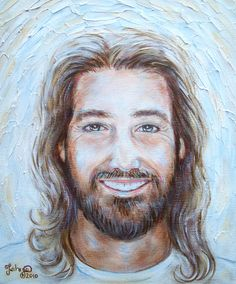 Alluring Jesus Smiling Images PICTURES OF JESUS Showing The Beauty Of Christ, images of jesus smiling, jesus smiling images. Pictures Of Jesus Christ, Religious Pictures, Religious Art, Jesus Laughing, Jesus Smiling, Lds Art, Jesus Painting, Jesus Face, Prophetic Art