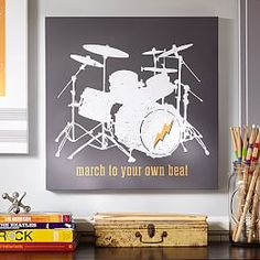 New Arrivals - Decor   PBteen  I should get this for my Drummer Husband... Nice Man Cave Addition