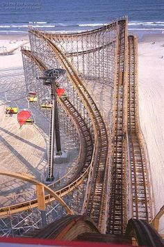 Great White #Morey's piers wildwood, NJ #rollercoaster [I rode this rollercoaster about 7 times.]