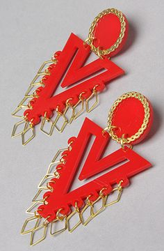 The Forget M.E. Not Vendetta Earring in Red by Melody Ehsani