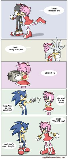 Turns out Amy had no idea what Sonic looked like all along..