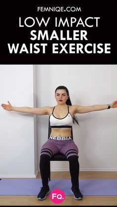 Chair Exercises For Abs: 8 Minute Tiny Waist & Flat Tummy Workout Can't handle high-impact workouts? This smaller workout routine will help you shred stubborn belly fat as along as you combine it with a proper weight loss diet. Go see the entire routine! Small Waist Workout, Workout For Flat Stomach, Workout Abs, Workout Videos, Waist Exercise, Glute Workouts, Stomach Workouts, Lower Ab Workouts, Chest Workouts